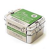 ECOlunchbox ♻️ Three-in-One, 3-teilige Brotdose aus Edelstahl | Lunchbox | Bento Box (Edelstahl,...