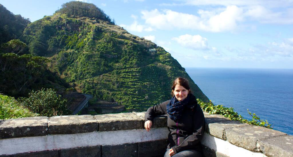 Bloggerin Silvia auf Madeira