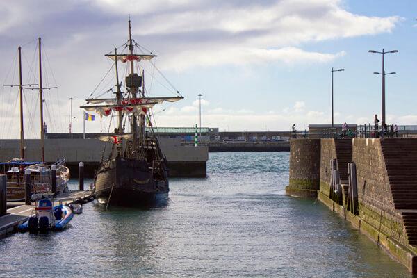 Schiff Nachbau von Christopher Columbus in Funchal