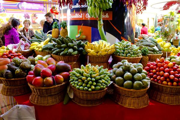 Obst auf dem Markt in Madeira