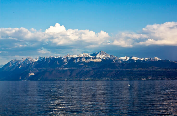 Berge am Genfer See