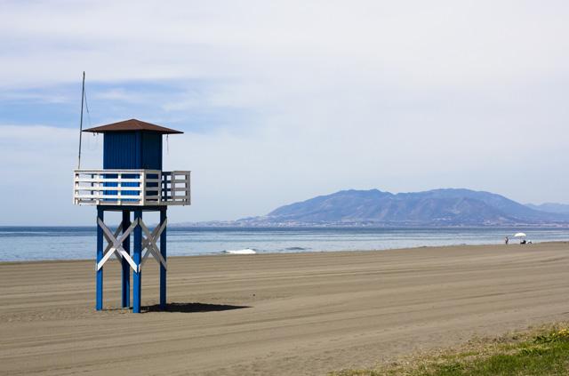 Haus an einsamen Strand