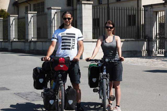 Radreisende Radtour nach Spanien