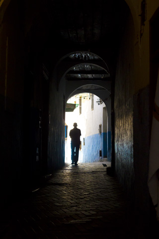 Silhouette in Tanger