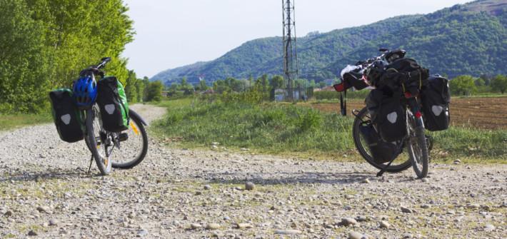 Radtour vorbereiten fahrrad Straße