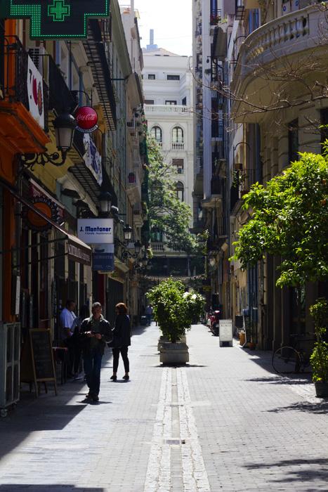 Straßen in Valencia