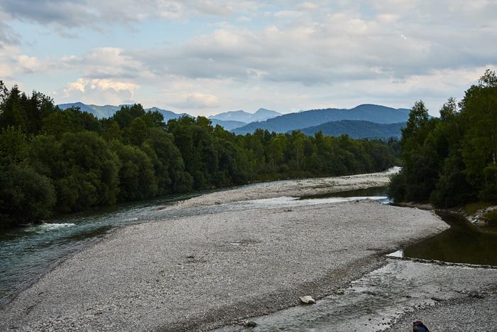 Isar und Berge in Lenggries