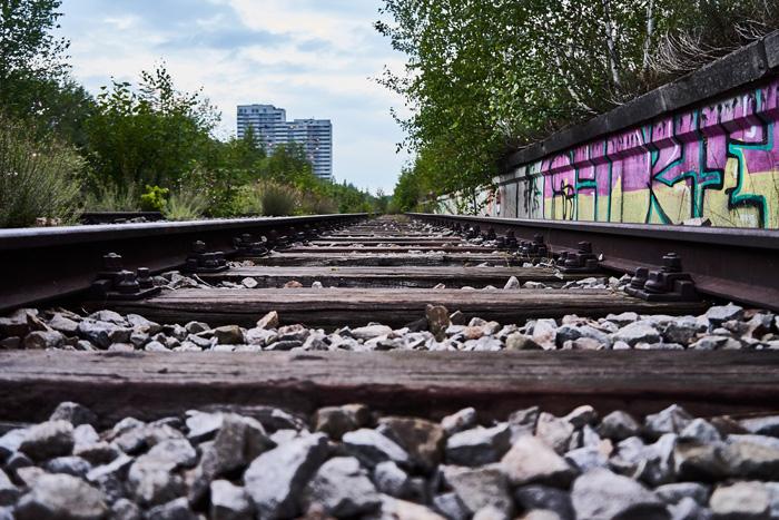 verlassener Bahnhof Gleisbett in München