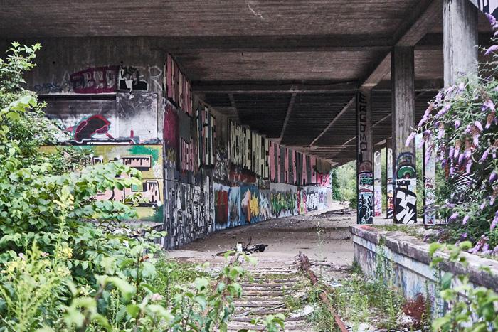 verlassener Bahnhof Street Art