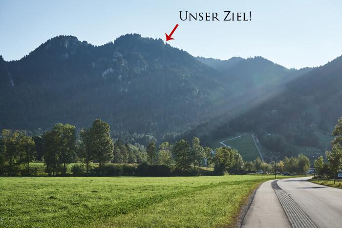 Brauneck Bergstation Ziel der Wanderung