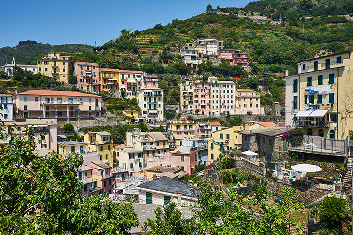Aussicht auf Riomaggiore Besuch in Cinque Terre