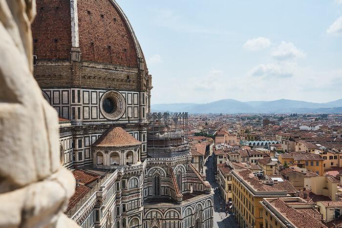 Aussicht über die Kathedrale in Florenz
