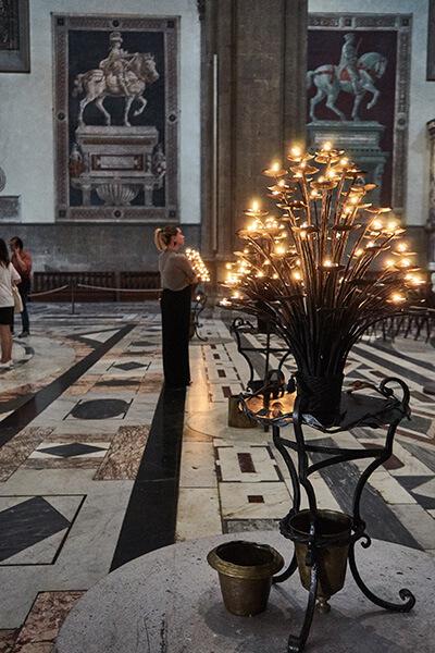 Das Innere der Kathedrale in Florenz