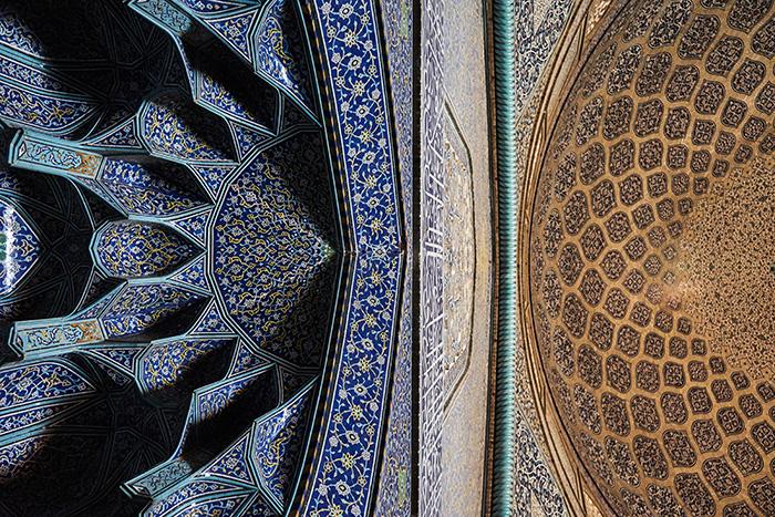 Muster in der Moschee in Esfahran Iran Reise-Erfahrungen