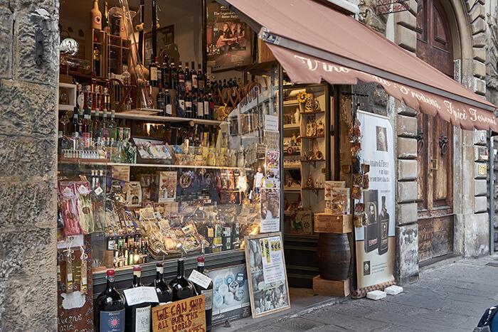 Feinkost Laden in Florenz Sehenswürdigkeiten