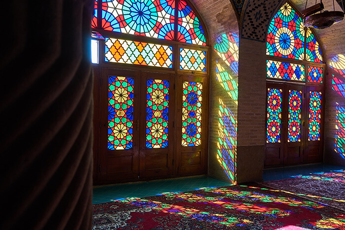 Backpacking im Iran Pinke Moschee in Shiraz