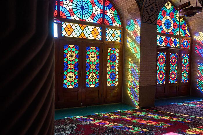 Backpacking im Iran Pinke Moschee in Shiraz