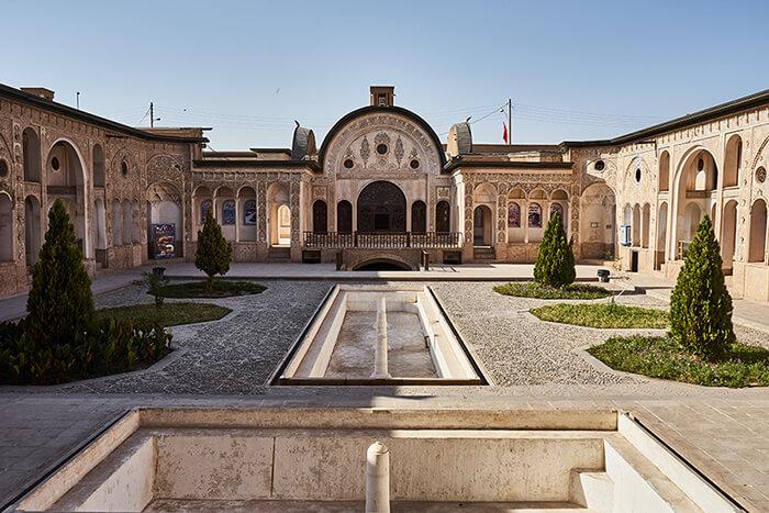 Backpacking im Iran Herrenhaus in Kashan