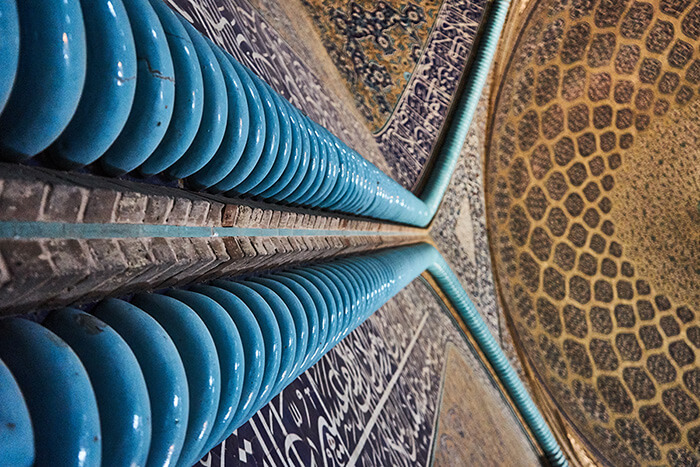 Backpacking im Iran Moschee in Esfahan