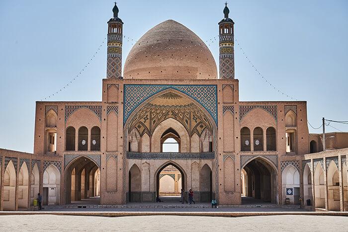 Backpacking im Iran Moschee in Kashan