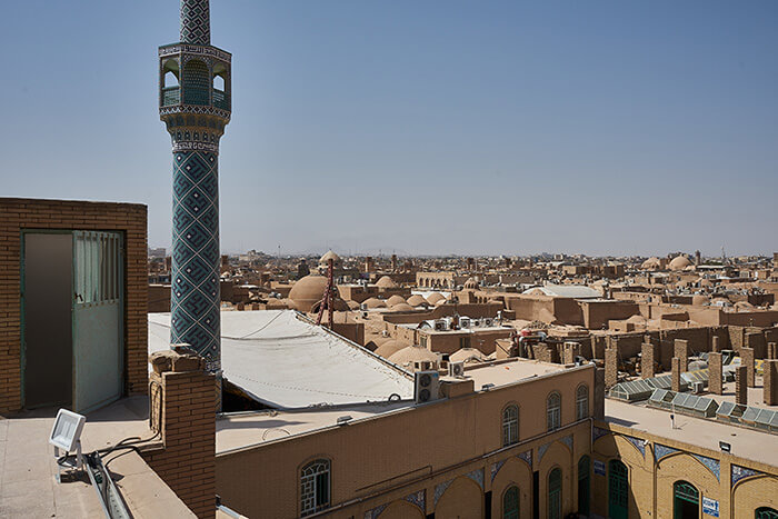 Backpacking im Iran Panorama in Yazd