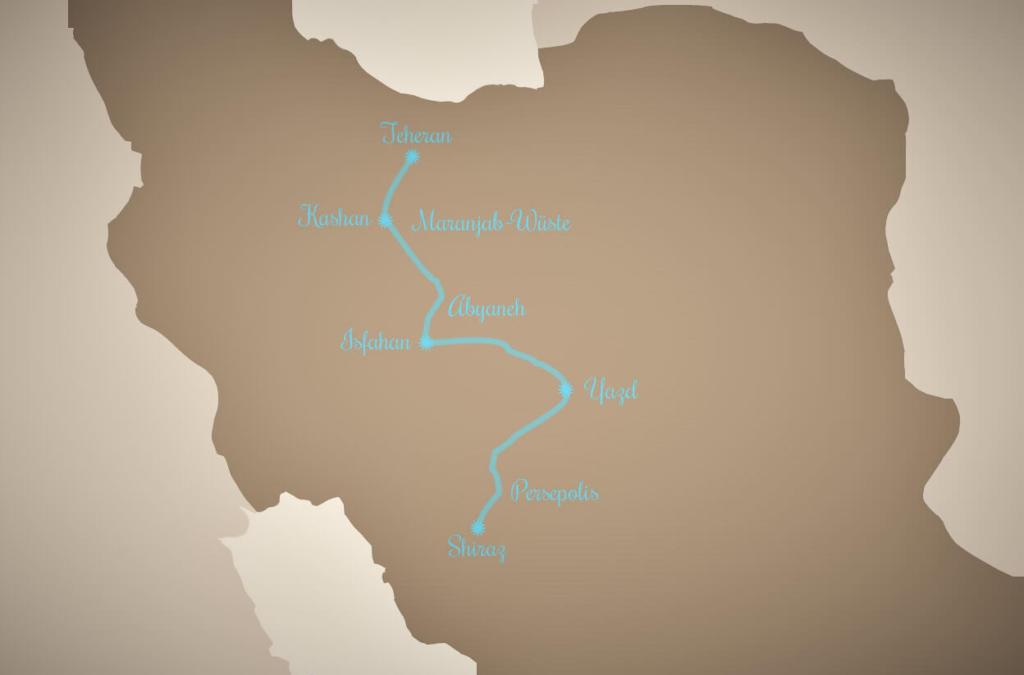 Backpacking im Iran Reiseroute 2 Wochen