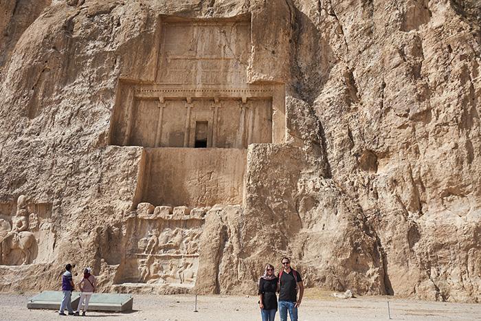 Ein Felsengrab im Iran Reiseplanung