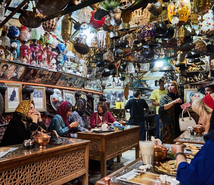 Ein Teehaus in Isfahan im Iran