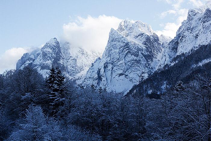 Wanderung im Kaisertal der Wilde Kaiser im Winter