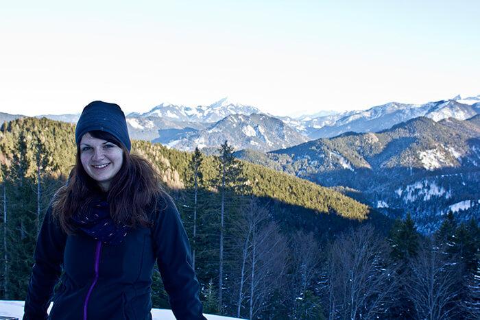 Wandern im Winter Silvia