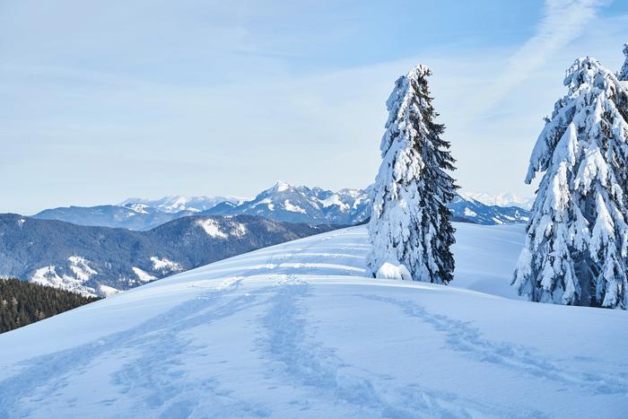 Gindelalmschneid im Winter Winterwanderung am Schliersee