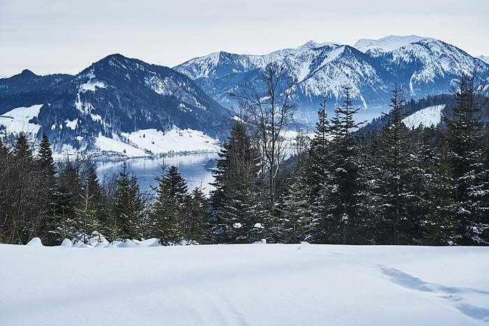 Winterwanderung am Schliersee zum Tegernsee