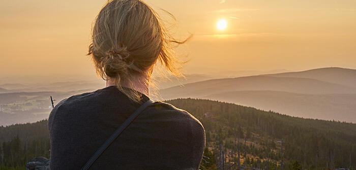 Silvia im Sonnenuntergang