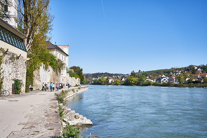 Inn-Kai und Inn-Promenade in Passau
