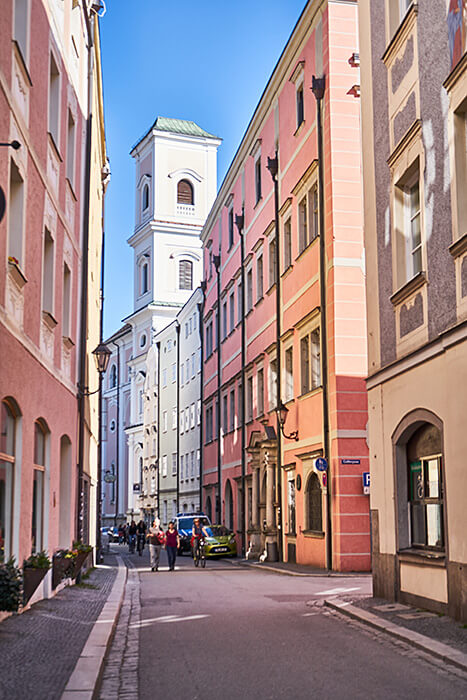 Bunte Häuser in Passau