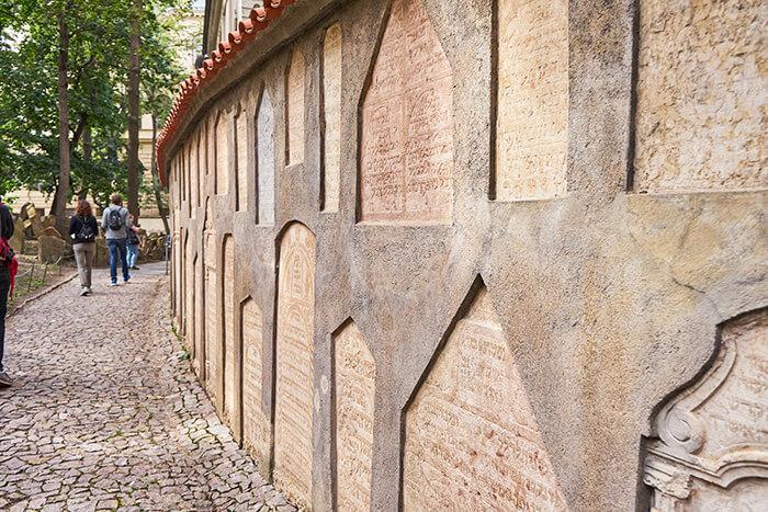 Mauer auf dem jüdischen Friedhof