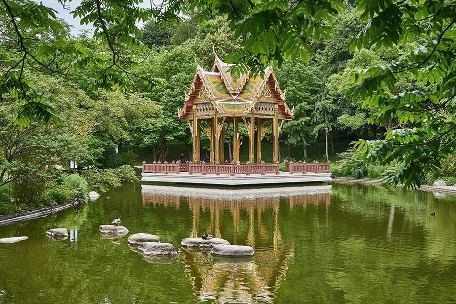 Der japanische Garten im Westpark