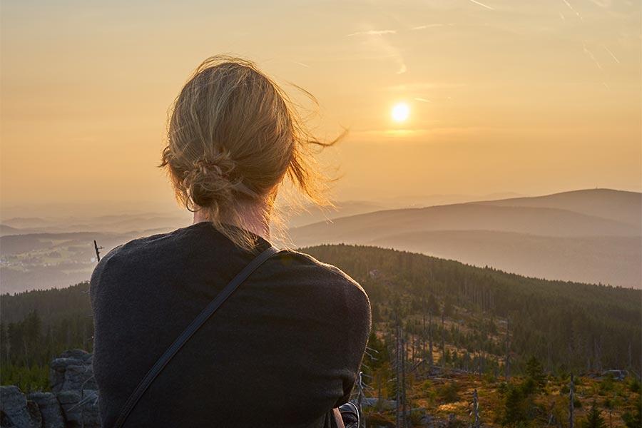 Sonnenuntergang auf dem Dreisessel