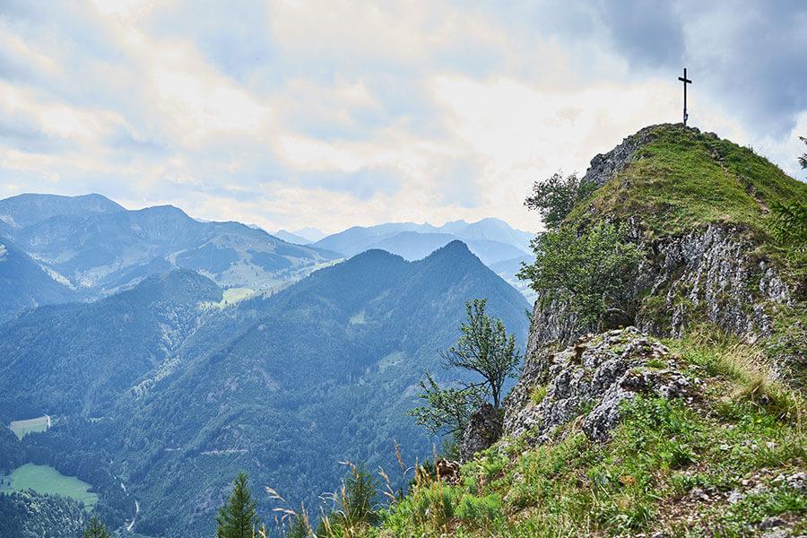 Gipfel bei der Wanderung
