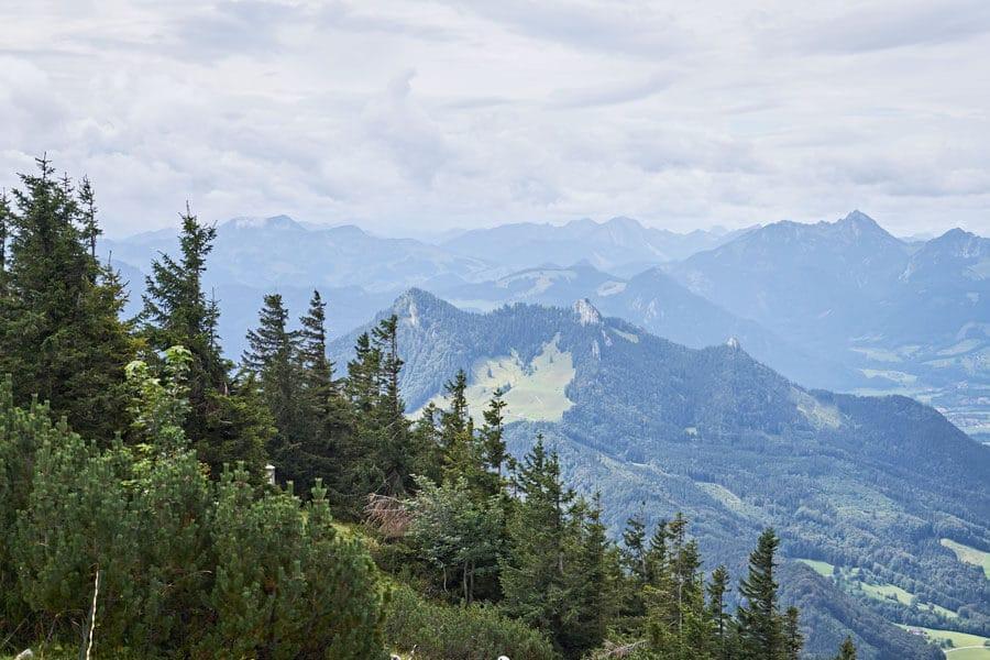 wandern im chiemsee alpenland mit gipfel