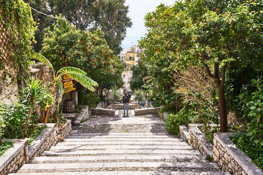 Treppe auf Sizilien