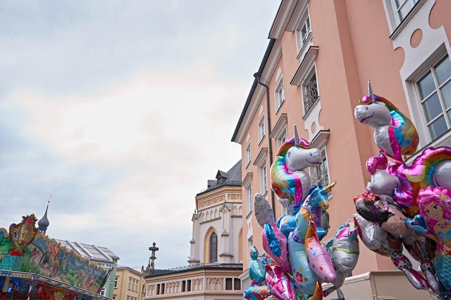 Ballons auf dem ludwigsplatz