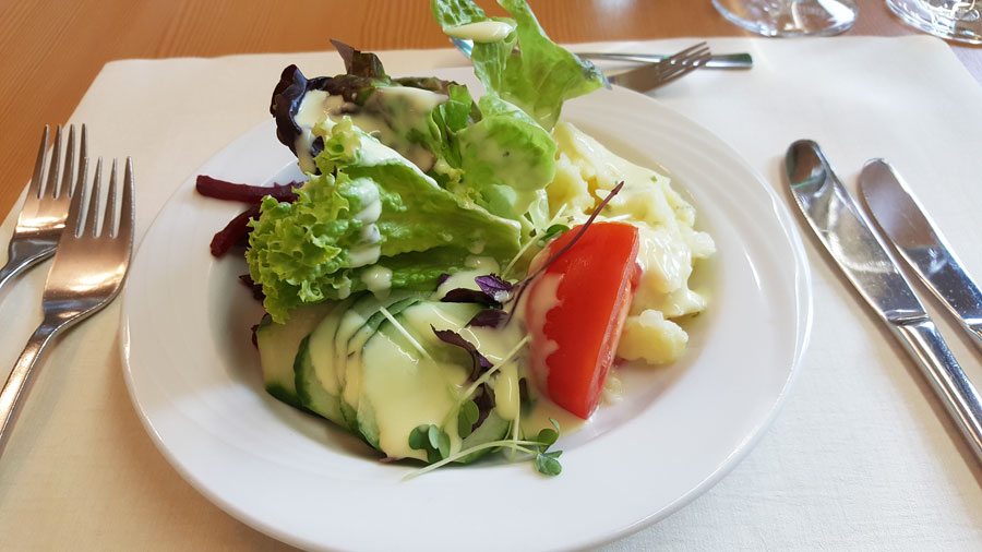 Salat im Hotel Summerhof